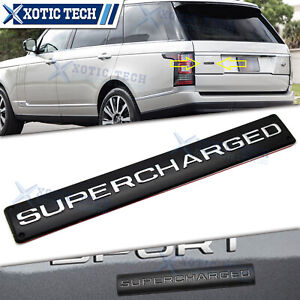 Black Supercharged Trunk Rear Letters Emblem Badge Decal Sticker For Land Rover