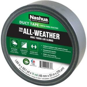 Nashua 1086188 All weather Hvac Duct Tape Silver 11 Mil 1 89 X 60 Yd 398