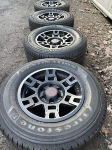 17 Toyota Tacoma Oem Trd Black Wheels Rim 4runner Firestone Tires