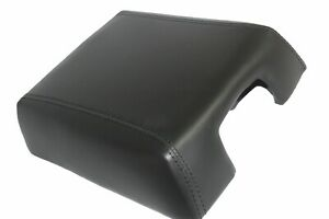 Fits 07 17 Ford Expedition Leather Center Console Lid Armrest Cover Black