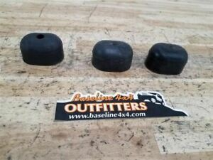 Jeep Tj Wrangler Rear Spare Tire Rubber Bumpers Set 3 2003 2004 2005 2006 34110