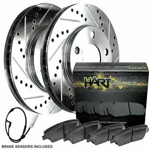 For 2002 2006 Mini Cooper Hart Brakes Front Silver Zinc Cross Drilled Slotted