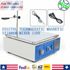 10l Digital Display Thermostatic Magnetic Stirrer Mixer W Hotplate Heating 300w