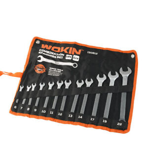 12pc Spanner Wrench Set Metric Combination Small large Spanners 6 22mm Wokin