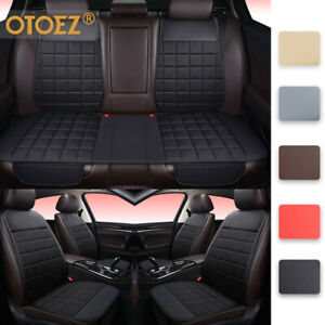 Universal Auto Car Seat Cover Linen Leather Pad Front Back Mat Cushion Protector