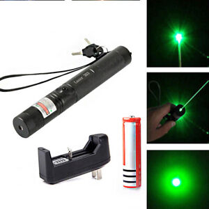 900miles Laser Pointer Rechargeable Pen Black 532nm Battery Charger Star Cap
