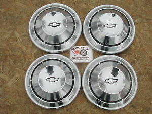 1968 1969 Chevy Yenko Camaro Nova Etc Poverty Dog Dish Hubcaps Set Of 4