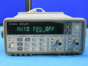 Agilent Hp 53131a Universal Frequency Counter Passes Self Test