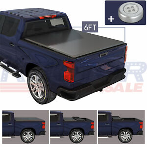 Soft Tri Fold Tonneau Cover 6 Ft Truck Bed Fit For Ford Ranger 2019 2020 2021