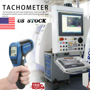 Digital Lcd Non contact Laser Photo Tachometer Rpm Tester Meter Speed Gauge Us