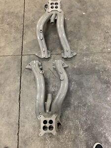1960 1961 Chrysler 383 413 Orig Lh Rh Cross Ram Intake Manifolds 1947162 1947163