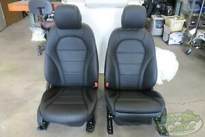 2017 Mercedes Glc300 Front Seat Set Electric Heated Black Leather Oem