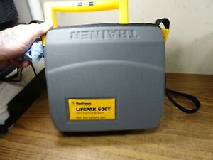 Medtronic Lifepak 500t Aed Defibrillator Training System W battery Case Remote