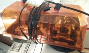 Federal Signal Mini lightbar Amber With Magnet suction Cups