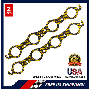 Header Exhaust Gaskets For Sb Chevy 350 Round Port 1 75 Spectre 423 2 Pcs