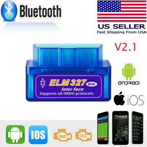 Elm327 V2 1 Bluetooth Obdii Scan Tool Code Reader For Iphone Ios Android Us