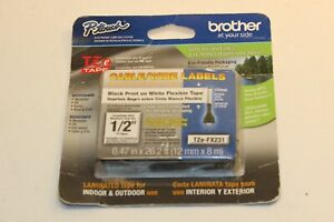 Brother Tz 0 47 In X 26 2 Ft Or 12 Mm X 8 M Cable wire Labels Labeling Tape