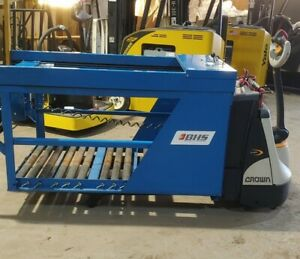 2018 Bhs Battery Handling Systems Mobile Battery Extractor On Crown Pallet Jack