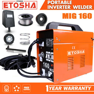 Mig 160a Welder Inverter Flux Core Wire Gasless Arc Ac Metal Welding Machine