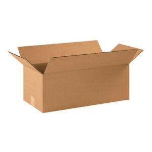 22 X 10 X 8 Long Corrugated Boxes Ect 32 Brown Shipping moving Boxes 20 bundle