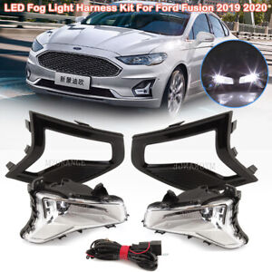 Led Fog Light Wiring Assembly Kit For Ford Fusion 2019 2020 Bumper Driving Lamps
