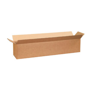 30 X 6 X 6 Long Corrugated Boxes Ect 32 Brown Shipping moving Boxes 25 bundle