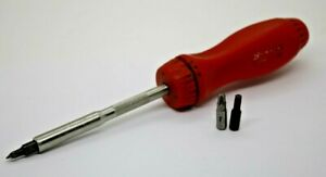 Snap On Tools Red Hard Handle Ratcheting Screwdriver Ssdmr4b Made In Usa
