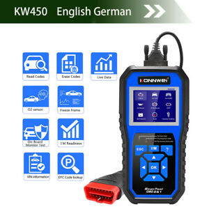 Kw450 Obd2 Diagnostic Tool For Vag Cars Vw Audi Abs Epb Dpf Full Systems Scanner