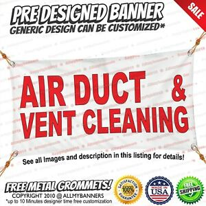 Vinyl Banner Multiple Options Air Duct Vent Cleaning Red Auto Car Repair Shop