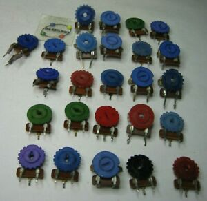 Trimmer Potentiometer Assorted Grab bag Pcb Mount Single Turn Used Pulls Qty 25