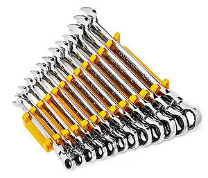 Gearwrench 86728 16 Pc 90t Metric Flex Combo Ratcheting Wrench Set Brand New