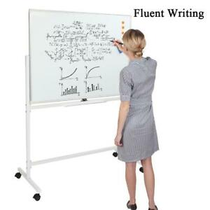 Double Sided Dry Erase Board Stand Easel Magnetic Whiteboard 360 rolling Wheels