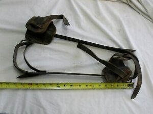 Antique Klein Lineman s Pole Tree Climbing Spikes Gaff Spurs Lot 1