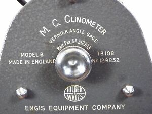 Hilger Watts Tb 108 Model B Vernier Angle Gage British Clinometer See Video