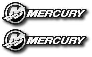 2x Mercury Decal Sticker Us Made Truck Vehicle Fishing Boat Outboard Car Window
