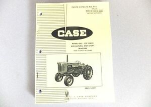 Parts Manual Illustrated Catalog 430 Case Tractor