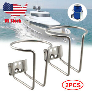 Boat Stainless Steel Drink Cup Holder Can Bottle For Marine Yacht Truck Rv 2pack