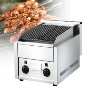 Commercial Gas Grill stainless Steel volcanic Rock Grill Lava Rock Shawarma Hot