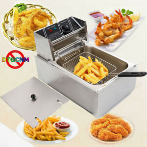 1700w 6 3qt 6l Stainless Steel Electric Deep Fryer Home Commercial Restaurant Us