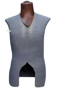 Male Mannequin Torso Body Dress Form Fabric Covered