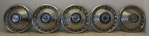 Five 5 1963 Ford Galaxie Fairlane 14 Wheel Covers Hubcaps