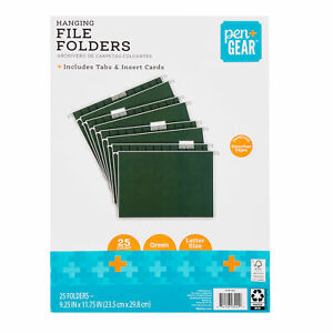 Hanging File Folders Letter Size Green 25 pack Free Shipping