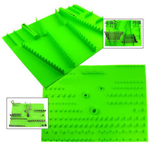 2 Pack Socket And Wrench Organizer Holder Tray Set Grip Tool Green 67255