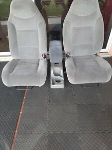 1998 Ford Ranger Bucket Seat Set With Center Console Grey Cloth