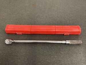 Snap on Qd3r250 1 2 Drive 50 250lbs Click type Torque Wrench With Case