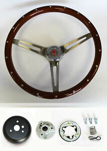 Oldsmobile Cutlass 442 88 Wood Steering Wheel With Rivets 15 High Gloss Finish