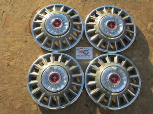 1968 Ford Mustang Deluxe 14 Wheel Covers Hubcaps Set Of 4
