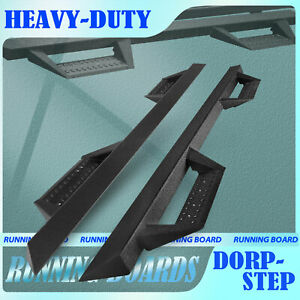 For 2005 2021 Toyota Tacoma Double Cab Pickup Nerf Bar Running Boards Black