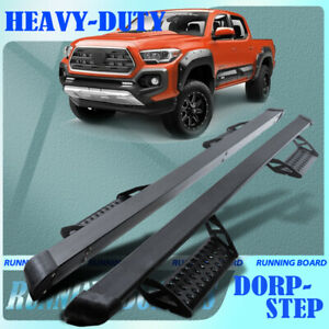 For 2005 2021 Toyota Tacoma Double Cab 3 Hoop Step Board Running Boards Pickup