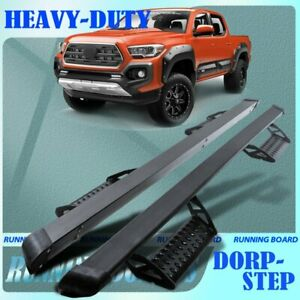 Fit 05 21 Toyota Tacoma Access Extended Cab 3 Running Boards Bar Side Step Hoop